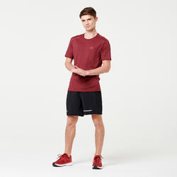 RUN DRY+ MEN'S RUNNING T-SHIRT - BURGUNDY