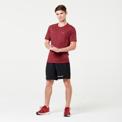 男款跑步T恤RUN DRY+ - 酒紅色