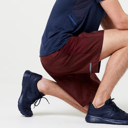 男款短褲RUN DRY+ - 酒紅色