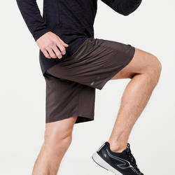 SHORT RUNNING HOMME RUN DRY + KHAKI
