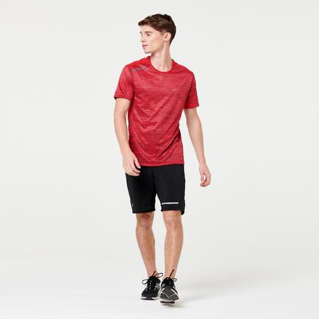 RUN DRY+ MEN'S RUNNING T-SHIRT - MOTTLED RED