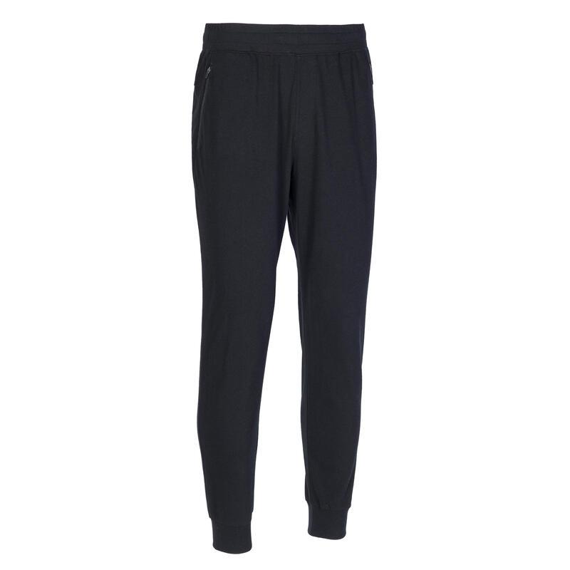 100 Slim-Fit Gentle Gym & Pilates Bottoms with Zip-Up Pockets - Black