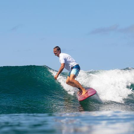 Planche de surf en mousse 7' 500. Livrée avec  1 leash et  3 ailerons.