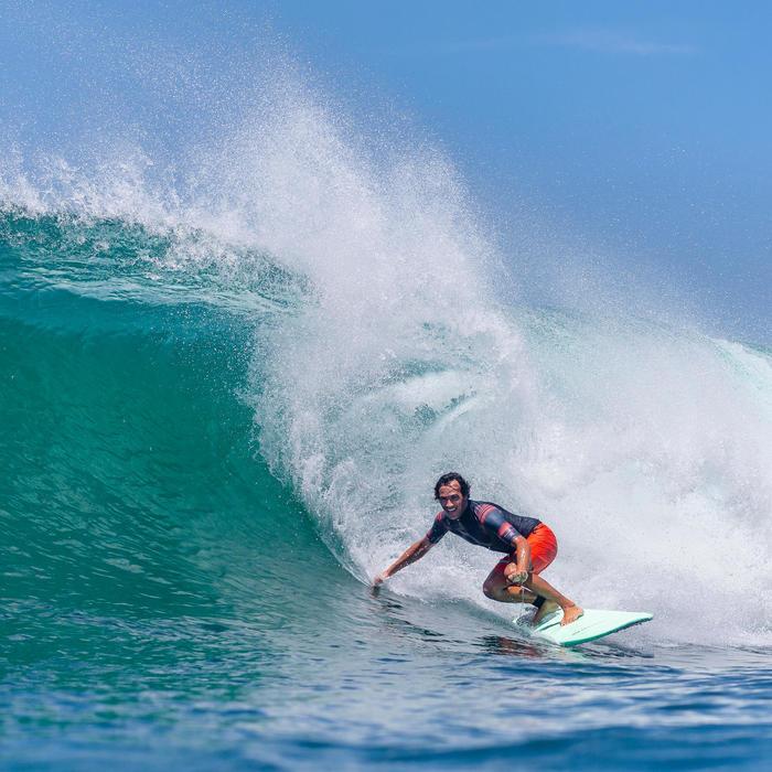 Surf boardshort Long 900 Océan light fluo