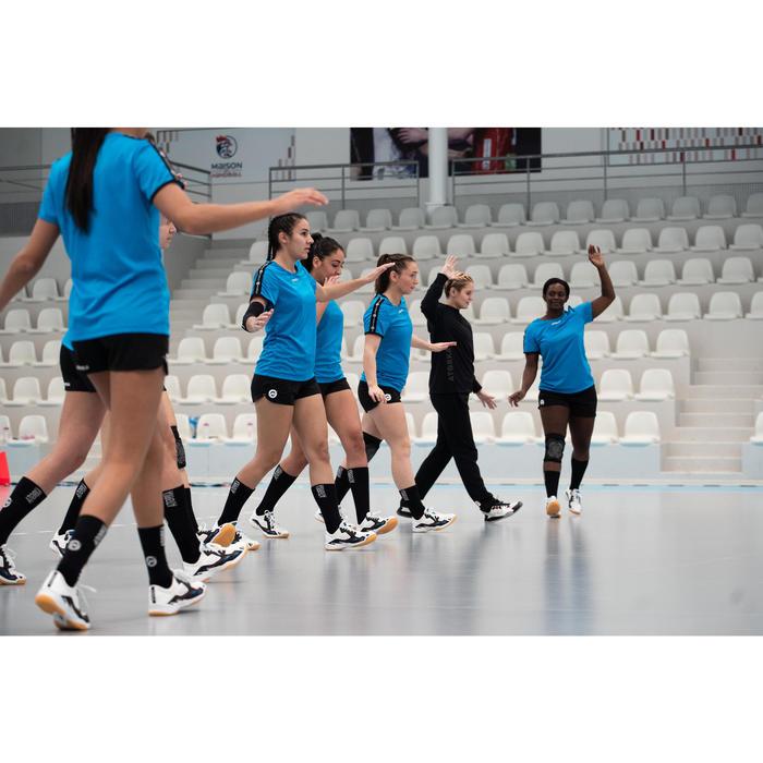 Chaussettes de handball H500 noir/blanc