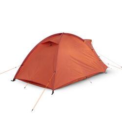 Tente dôme de trekking autoportante 3 saisons - TREK 100 orange 2 personnes