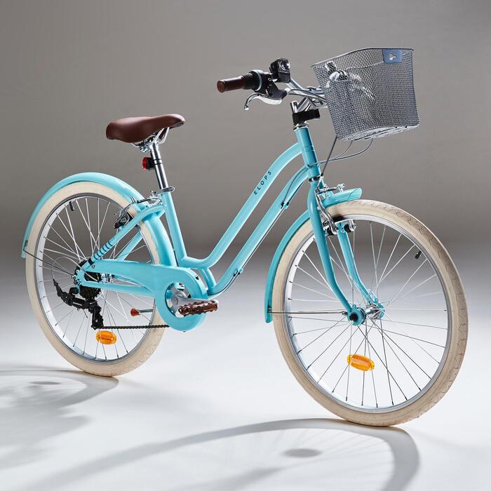 City Bike Kinderfahrrad 24 Zoll Elops 500 mint