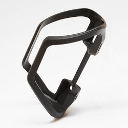 Frame-mounted bottle cage with side opening for a 380ml bottle.