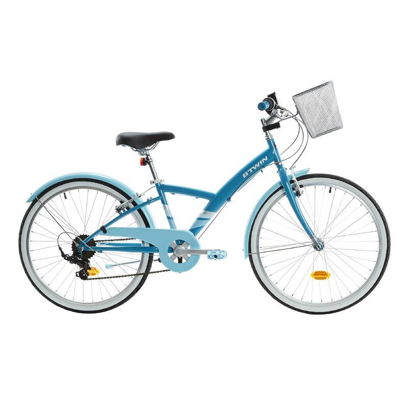 "Kids' 24"" Hybrid Bike Original 500 9-12 Years - Blue"
