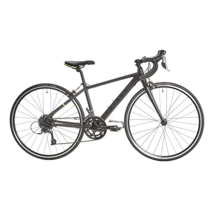 Racefiets / wielrenfiets kind 26 inch 9-12 jaar Triban 500 shimano claris grijs