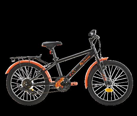 Trekkingrad-schwarz-orange-decathlon