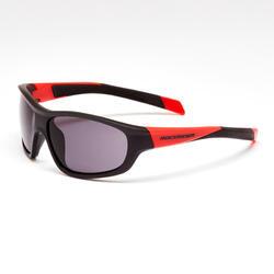 Fietsbril voor kinderen categorie 3 zwart/rood