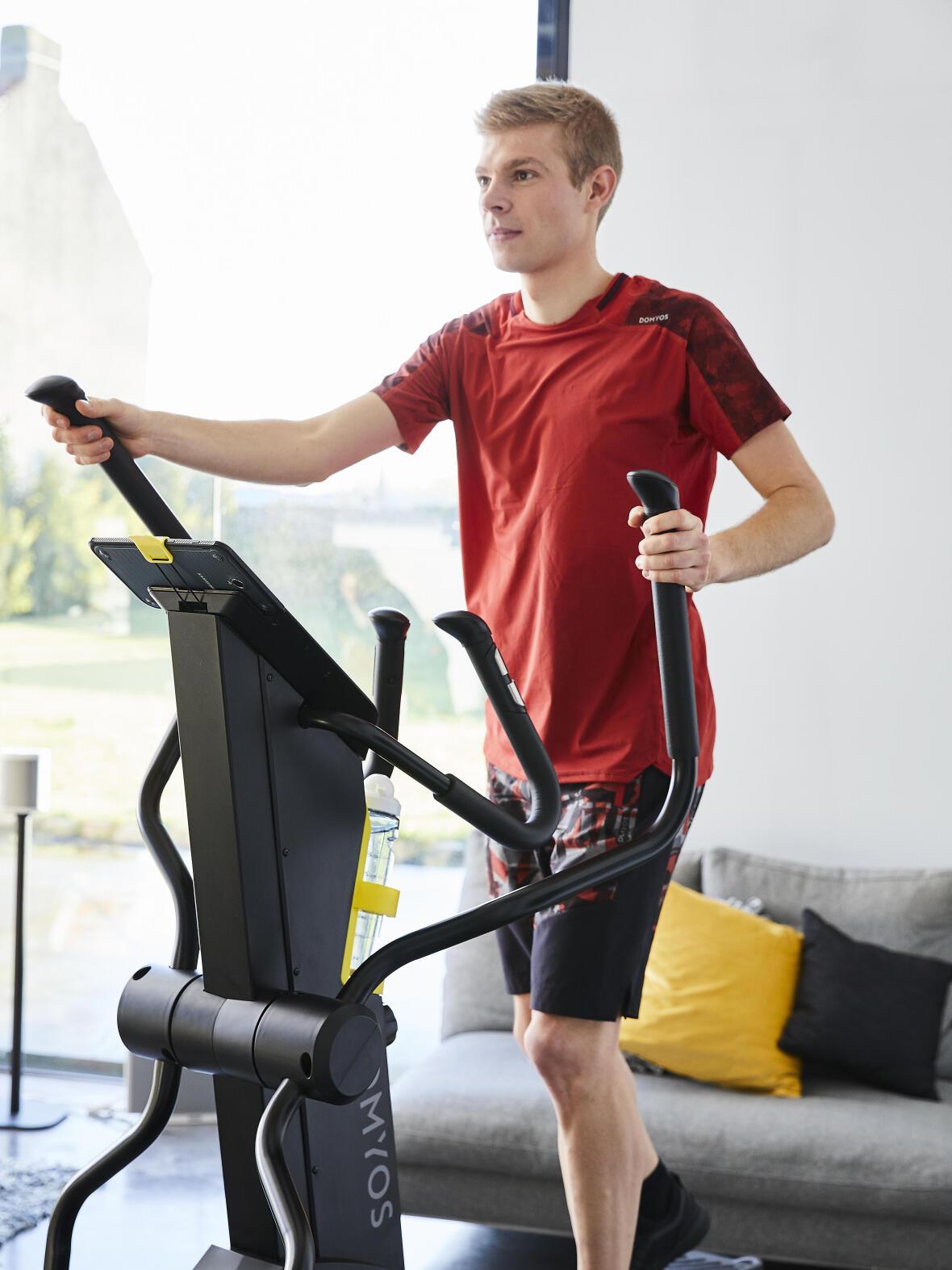 Cross trainer interval training