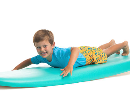Kids' swim shorts 100 - Orange