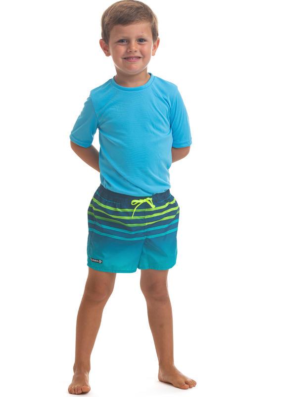 กางเกงชายหาดสำหรับเด็กรุ่น 100 Tokyo (สีฟ้า Turquoise)