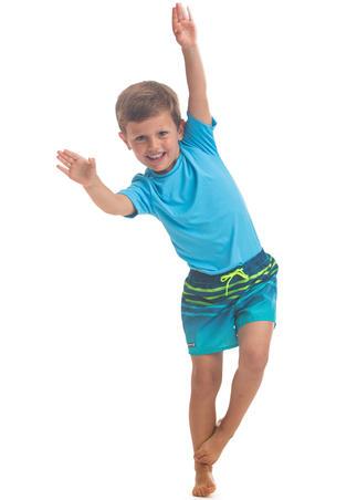Kids' Boardshorts 100 Tokyo - Turquoise