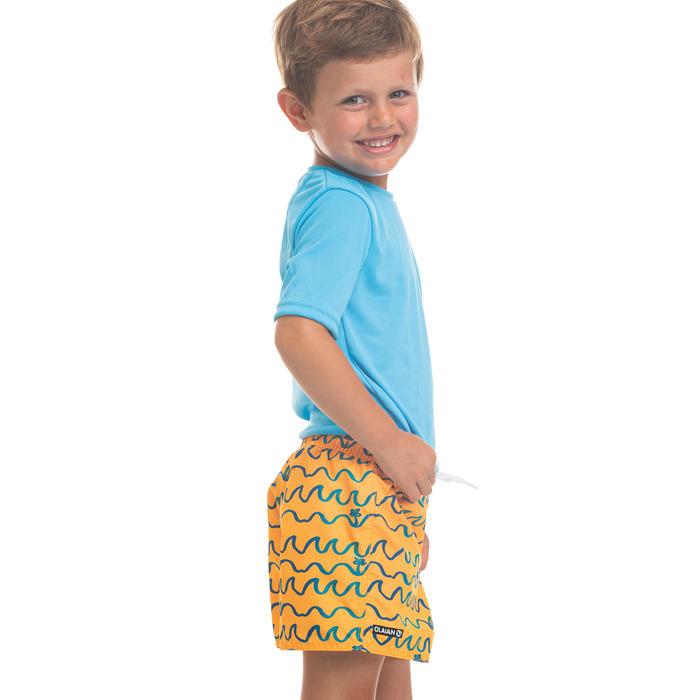 兒童款衝浪褲100-摺浪款橘色