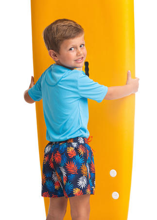 Kids' swim shorts 100 - Blue/Red