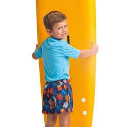 兒童款衝浪褲100-變葉紅款