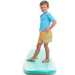 Maillot de bain Boardshort garcon 100 Kid ORIGAMI Orange