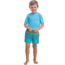 Maillot de bain Boardshort garcon 100 Kid Tokyo Turquoise