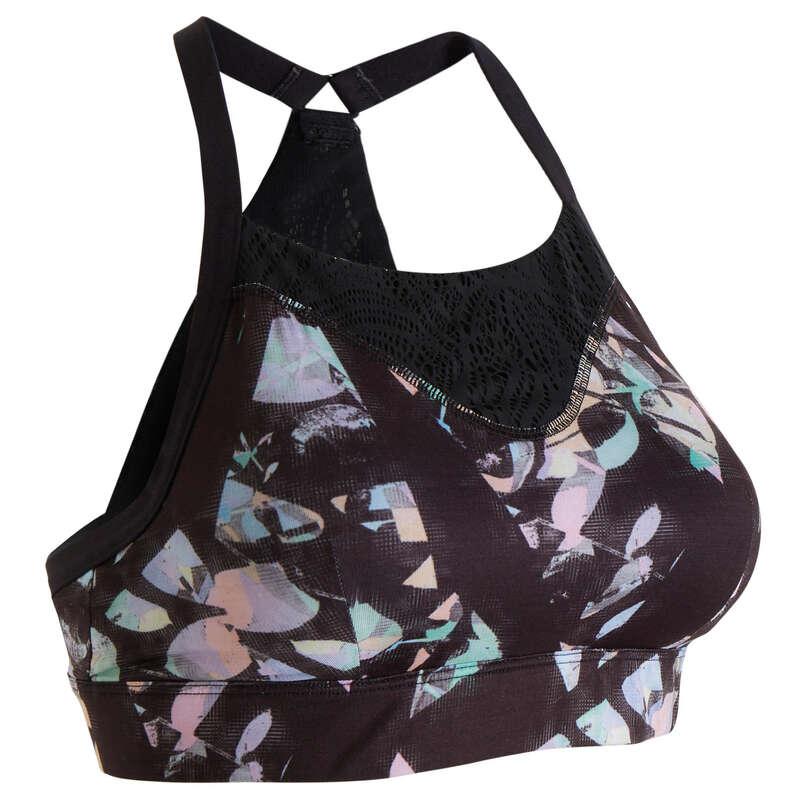 WOMAN FITNESS BRA, UNDERWEAR Fitness and Gym - Sports Bra FBRA 120 - Print DOMYOS - Gym Activewear