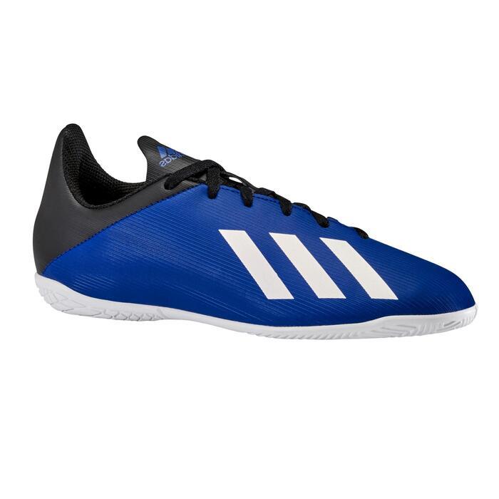 Zaalvoetbalschoenen kind X 19.3 indoor blauw/zwart