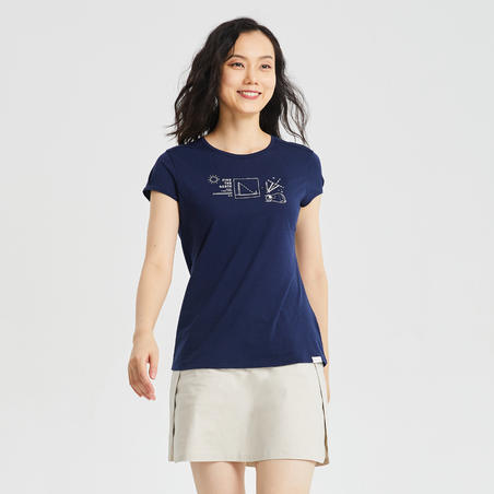 W T-Shirt NH500 CN - Navy