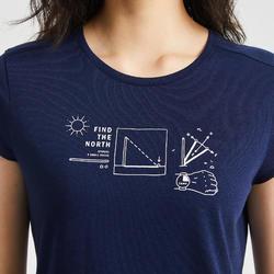 女款T恤NH500-軍藍色