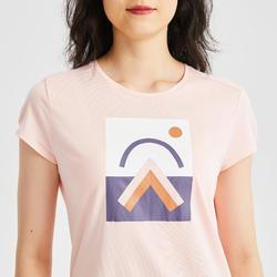 女款T恤 NH500-粉紅色
