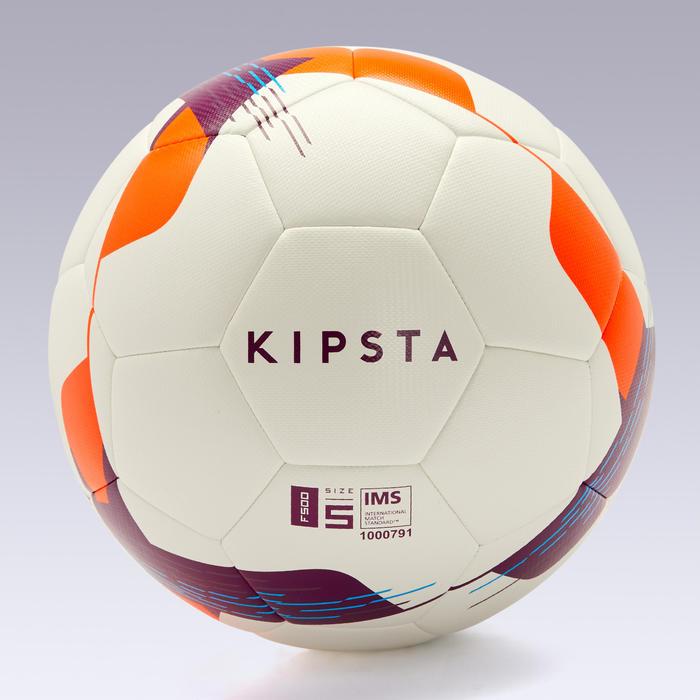 Voetbal F500 hybride maat 5 wit