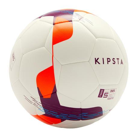 Balón de fútbol F500 Híbrido talla 5 blanco