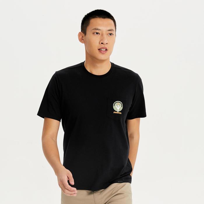 男款附口袋T恤NH500-黑色