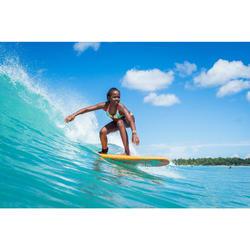 HAUT DE MAILLOT DE BAIN SURF FILLE TRIANGLE TURQUOISE BONDI 500