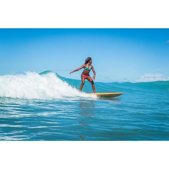 GIRL'S SURF SWIMSUIT TRIANGLE TOP BONDI 500 GREEN