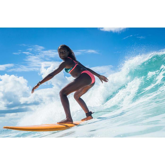 CULOTTE DE MAILLOT DE BAIN SURF FILLE CORAIL MAEVA 500