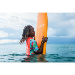 Uv-werende rashguard voor surfen meisjes 500 Aina