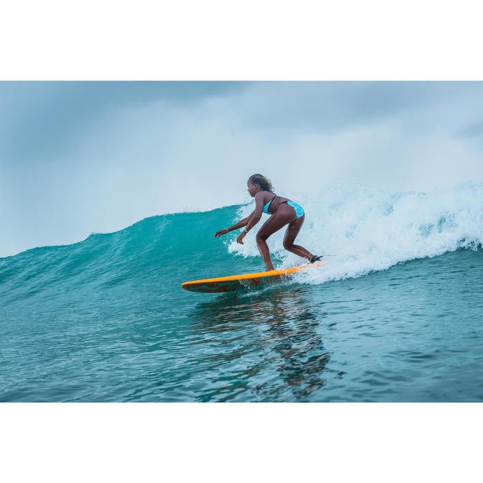 CULOTTE DE MAILLOT DE BAIN SURF FILLE TURQUOISE MALOU 500