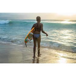 HAUT DE MAILLOT DE BAIN SURF FILLE BRASSIÈRE BLEU BONDI 500