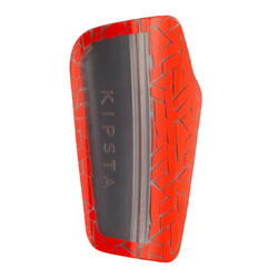 成人款足球護脛片540 TRX-灰色/橘色