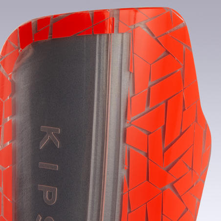 Adult Football Shin Pads 540 TRX - Grey/Orange