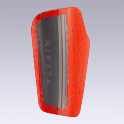 Adult Football Shin Pads 540 TRAXIUM - Orange/Grey