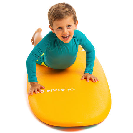 UV-resistant 100 Children's short sleeve surfing t-shirt - Turquoise