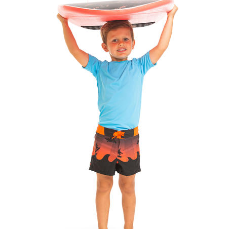 kids' swim shorts 500 - red