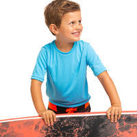 Water tee shirt anti UV surf enfant bleu