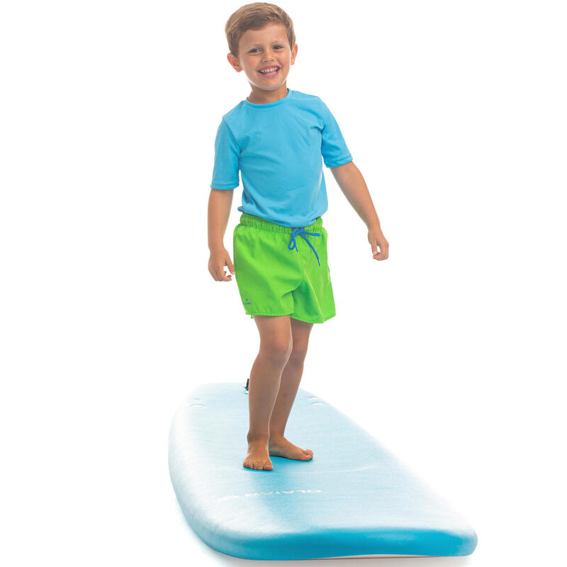 Bañador Niño Surf Corto Olaian Verde