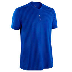 Maillot de football adulte F500 bleu uni