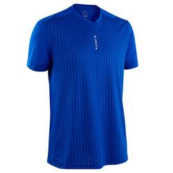 Voetbalshirt voor volwassenen F500 effen blauw