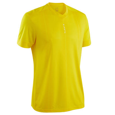 Maillot de football adulte F500 jaune uni