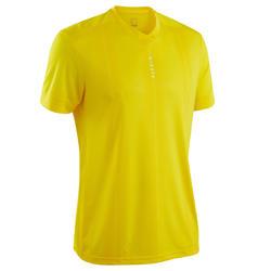 Camiseta de Fútbol Kipsta F500 adulto amarillo liso